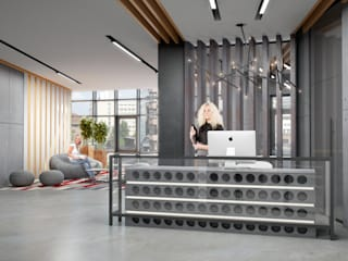 Industrial style offices & stores by INCUBE Алексея Щербачёва Industrial