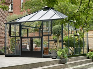 Juliana Anthracite Grey Oasis 12x12 Greenhouse:  Garden by Greenhouse Stores