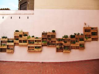 Terraza JAM Hostel de Aida Lopez Paisajista Mediterráneo