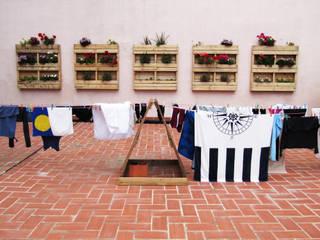 Terraza JAM Hostel Casas de estilo mediterráneo de Aida Lopez Paisajista Mediterráneo