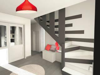 Rénovation/Décoration d'une maison individuelle: Couloir et hall d'entrée de style  par Atelier L.A. Design