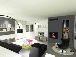 Rénovation/Décoration d'une maison individuelle: Salle à manger de style  par Atelier L.A. Design