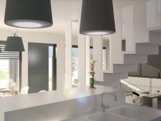 Maison contemporaine: Salle à manger de style  par Atelier L.A. Design