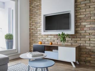 Salas de estar modernas por Bartosz Andrzejczak Architekt Wnętrz Moderno