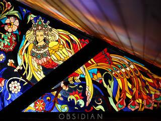 Сирин: Медиа комнаты в . Автор – Витражная мастерская Obsidian