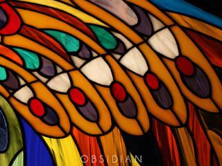 Крыло: Медиа комнаты в . Автор – Витражная мастерская Obsidian