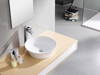 BATHCO BathroomSinks Porcelain White