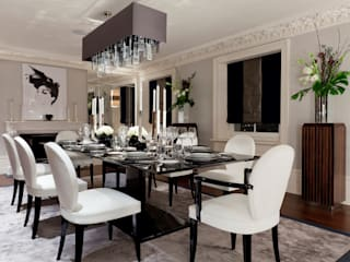 Lancasters Show Apartments - Formal Dining Room :  Dining room by LINLEY London