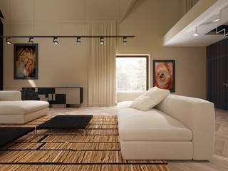 Salon z antresola : styl , w kategorii  zaprojektowany przez Concept