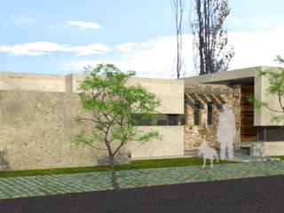 fachada frontal: Casas de estilo moderno por modulo cinco arquitectura