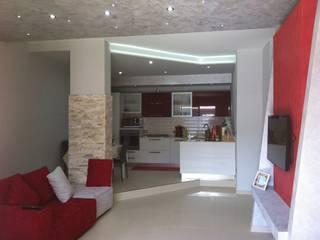 Soggiorno-cucina di Architetto Giovanni Marra Studio di Progettazione Integrata Moderno