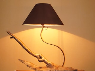 Lampe Hêtre. par Libre-Art-Bitre Éclectique