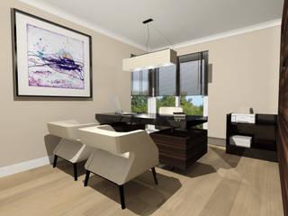 Biuro: styl , w kategorii Salon zaprojektowany przez Denika