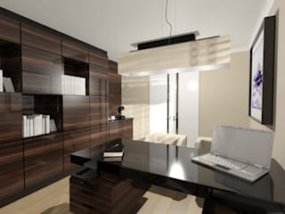 Biuro: styl , w kategorii Domowe biuro i gabinet zaprojektowany przez Denika
