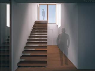 Modern Corridor, Hallway and Staircase by Tapada arquitectos Modern