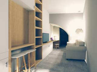 Recuperação em Évora: Salas de estar  por Tapada arquitectos,Moderno