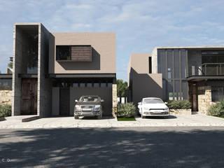 Casas Berlin Garambullo: Casas de estilo  por Tectónico,