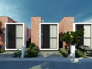 Town Houses Zibatá: Casas de estilo  por Tectónico,