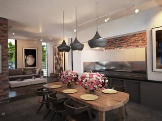 Minimalist dining room by Tectónico Minimalist