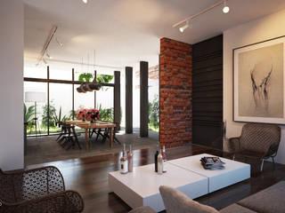 Tectónico Salones de estilo minimalista
