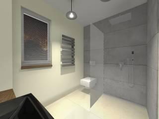 """""""Beton Architektoniczny""""- Piękno w Prostocie : styl , w kategorii Łazienka zaprojektowany przez Kamienie Naturalne Chrobak"""