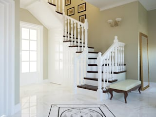 Insight Vision GmbH Classic style corridor, hallway and stairs