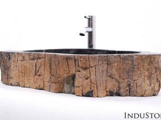Umywalki kamienne i mozaika Fossil Wood od Industone.pl Egzotyczny