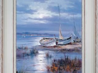 Reflet de l'aube sur la mer:  de style  par PROVENCE DISTRIBUTION - ATELIER ARTUS