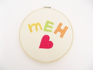 Textile word art by Cliona Byrne: modern  by Thimble Hoop, Modern