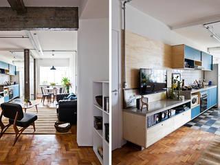 INÁ Arquitetura Salas de estilo industrial
