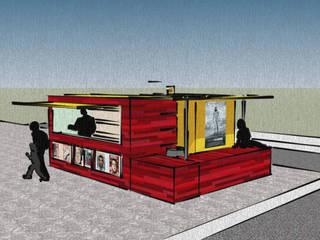 Kiosque et arrêt de bus temporaire et modulable par Adrien Grenard Moderne