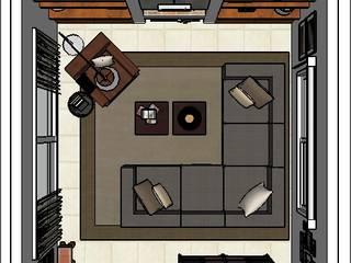 PLATZ Rustik Oturma Odası Ahşap Rengarenk