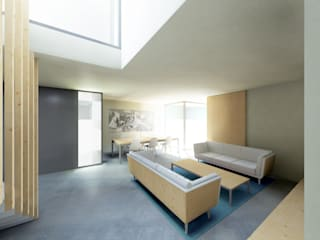 Living room by Garmendia Cordero arquitectos, Modern