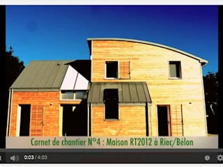 VIDEO CARNET DE CHANTIER N°4 - UNE MAISON RT 2012 à RIEC SUR BELON Patrice Bideau a.typique