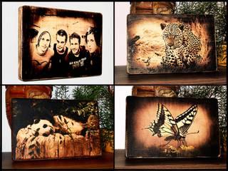 Individuelle Holzbilder im geflammten Rustikal-Look von Waldbär Holzdesign Rustikal