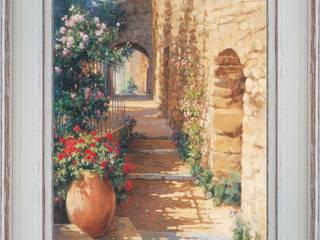 Mur fleuri en pierres apparentes:  de style  par PROVENCE DISTRIBUTION - ATELIER ARTUS