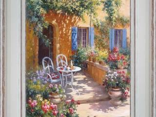 Terrasse fleurie:  de style  par PROVENCE DISTRIBUTION - ATELIER ARTUS