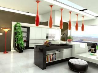 Kuchnia z jadalnią w stylu nowoczesnym – Australia, Newcasle: styl , w kategorii Kuchnia zaprojektowany przez Archonica