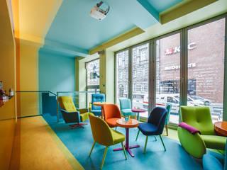 CAFEIN - kawiarnia: styl , w kategorii Gastronomia zaprojektowany przez KOLORAMA
