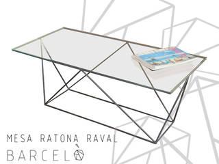 MESA RATONA RAVAL:  de estilo industrial por Barcelò. diseño en hierro,Industrial