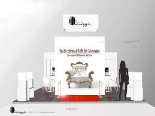 CAFFE' del CARAVAGGIO _ exhibition stand 2015 Allestimenti fieristici moderni di roberta mari Moderno
