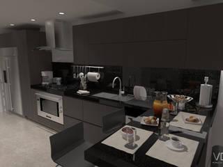 Remodelación Penthouse Cocinas de estilo minimalista de Vowen Minimalista