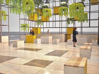 Fuar Standı Tasarımı Pil Tasarım Mimarlik + Peyzaj Mimarligi + Ic Mimarlik Modern Evler Demir/Çelik Yeşil
