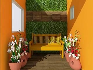 Jardines de invierno de estilo rural de Nádia Catarino - Arquitetura e Design de Interiores Rural
