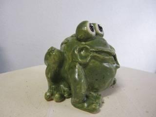Frosch lustig:   von Tonart - Keramik & Malerei