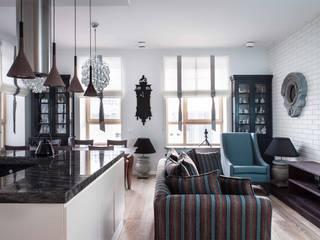 Industrial style living room by Архитектор Татьяна Стащук Industrial