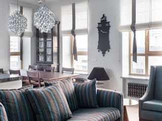 Salas de estar industriais por Архитектор Татьяна Стащук Industrial