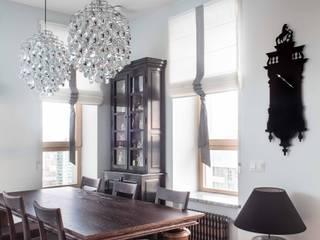 Salas de jantar industriais por Архитектор Татьяна Стащук Industrial