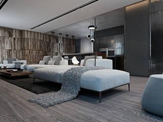 Cozy flat in Kiev centre: Гостиная в . Автор – Diff.Studio, Минимализм