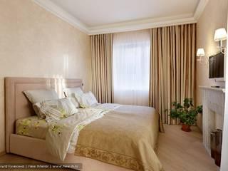 Квартира с террасой «Черное золото»: Спальни в . Автор – Ольга Кулекина - New Interior,